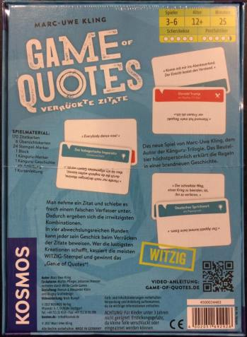 Game of Quotes back